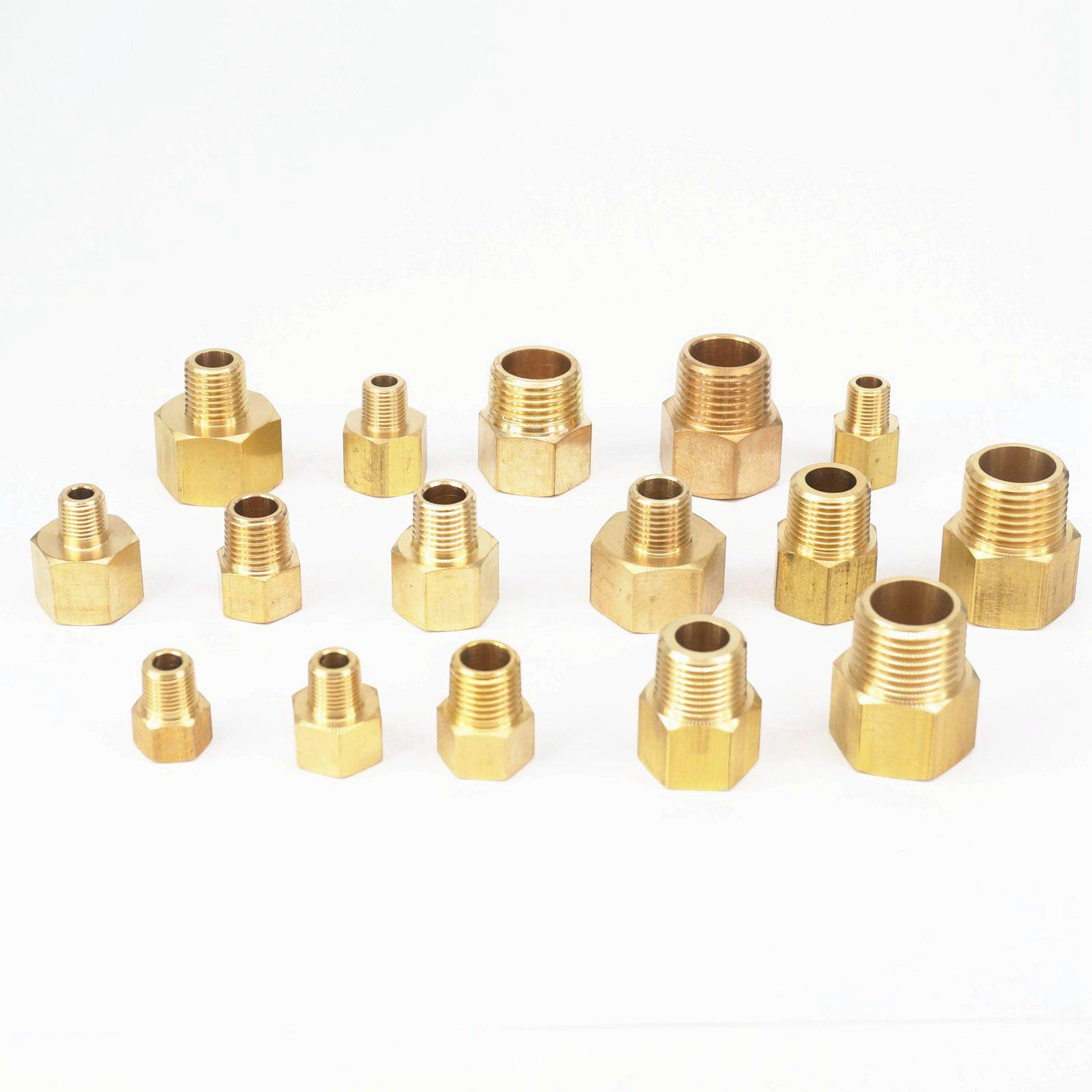 "1//2 inch x 2/"" Nipple Brass Pipe Fitting NPT male thread air water gas fuel"