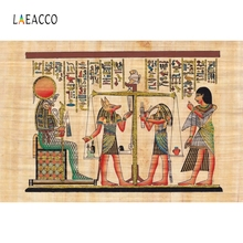 Laeacco Ancient Egyptian Mural Frseco Scenic Backdrop Photography Backgrounds Customized Photographic Backdrops For Photo Studio цена