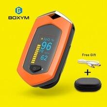 BOXYM палец импульса измеритель пульса SpO2 PR OLED Перезаряжаемые CE медицинской оксиметр de Dedo монитор сердечного ритма пульсоксиметр Монитор кровь пульсометр медицинские приборы