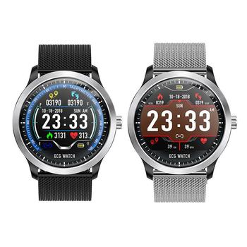N58 ECG PPG Smart Watch With Holter Ecg Heart Rate Monitor Blood Pressure Smartwatch IP67 Waterproof