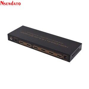 Image 5 - 4K * 2K HDR HDMI Matrix 4X1 4k HDMI Switch dağıtıcı ses Extractor DTS Dolby ark SPDIF 4 1 Out HDMI dönüştürücü PS3/PS4