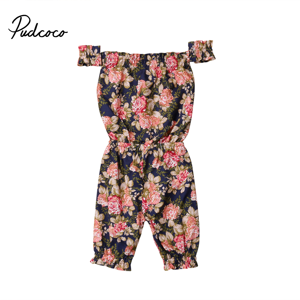 Cute Flower Infant Baby Girls Floral   Romper   Jumpsuit Sunsuit Outfits for Newborn Baby Girl Infant Children Clothes Kid Clothing