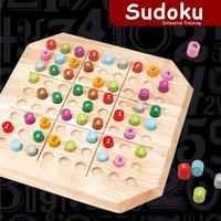 Wooden Puzzle Sudoku Board Game Intellectual Development Educational Toys Birthday Gift for Children Kids Toddler