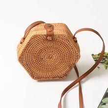 Lefur плетеная Сумка из ротанга летняя модная пляжная сумка для женщин БАЛИЙСКАЯ Соломенная женская поясная сумка, чехол для телефона Bolosa