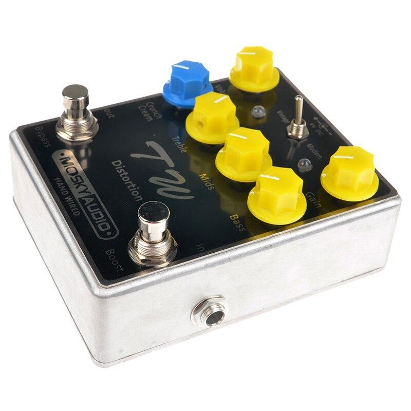 Mosky TW distorsion guitare effet pédale de haute qualité avec condensateurs/résistances/IC trois bandes EQ effets - 4