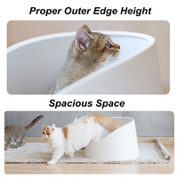 Pidan Снежная гора портативный Cat Kitty Пан Туалет туалета Коробка лоток дом w/совок