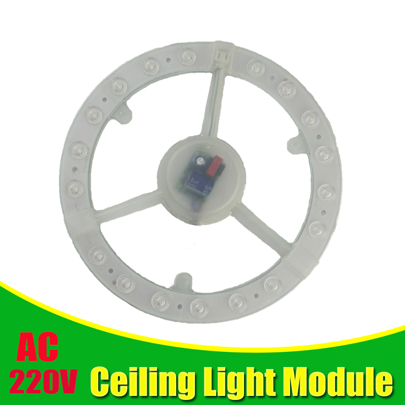 Ceiling Lamps LED Module AC220V 240V 12W 18W 24W Round  LED Light Replace Ceiling Lamp Lighting Source Convenient Installation