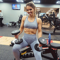 Leggings sin costura cintura alta push up fitness yoga gym ropa deportiva 5