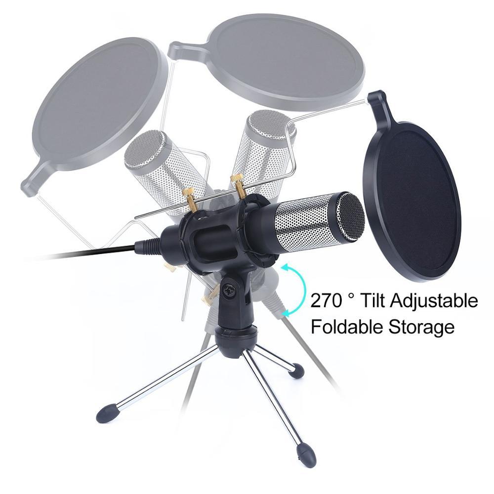 Обновленный профессиональный конденсаторный микрофон для компьютера с подставкой для телефона ПК Skype Studio микрофон USB микрофон караоке