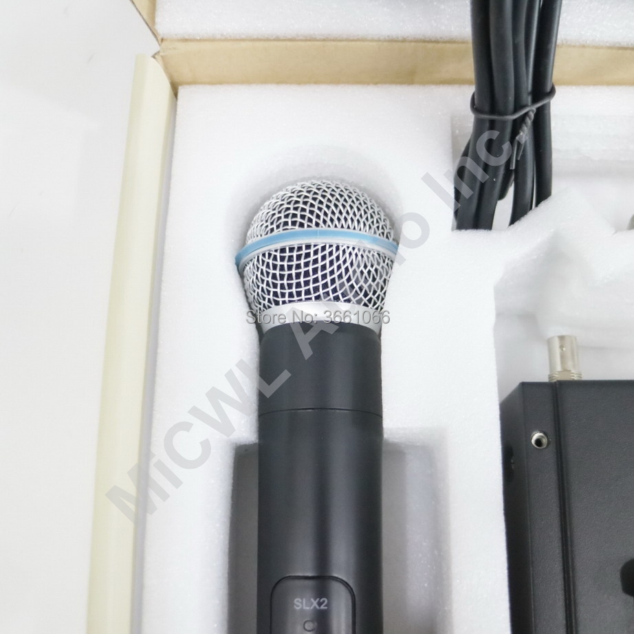 SLX SLX24 SM BETA58A système de Microphone sans fil UHF BETA 58 micro de karaoké portable dynamique Super cardioïde sans fil pour karaoké DJ - 5