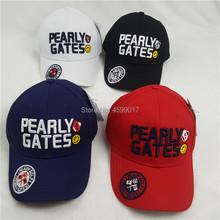 Czapka golfowa Golf Hat PEARLY GATES czapka bejsbolówka Outdoor kapelusz nowy cień do opalania Sport Golf kapelusz Darmowa wysyłka tanie tanio Literę Mężczyzn Poliester bawełna
