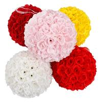 5Pcs 25CM Flower Balls Wedding Decoration Wine Red Flowers Tissue Paper Pompoms Decoration Party Flower Ball