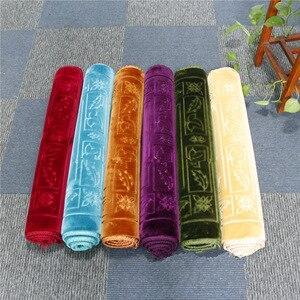 Image 4 - Mode Weich und Bequem Muslimischen Gebet Decke 12mm Dicke Gebet Matte 70x110cm Anti Slip Teppich für raschel Anbetung Teppiche