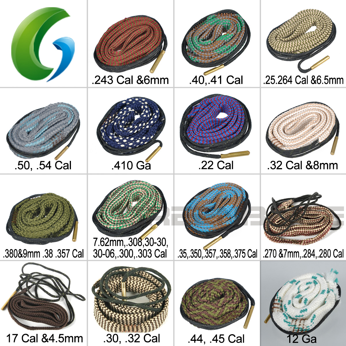 Hunting Hunting Gun Bore Cleaner Snake.22 Cal.223 Cal.38 Cal& 5.56mm,7.62mm,12ga Rifle Cleaning Kit Tool Rifle Barrel Calibre Snake Rope Ideal Gift For All Occasions Sports & Entertainment