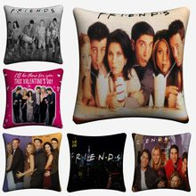 Friends TV Show Classic Figures Cotton Linen Decorative Cushion Cover 45x45cm For Sofa Chair Pillow Case Home Decor Almofada(China)