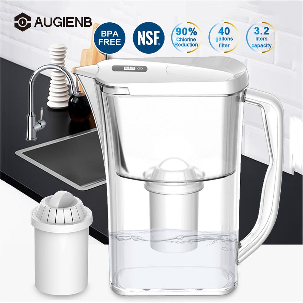 3.2L Water Filter Purifier Ionizer Generator Net Kettle with Electronic Filter Indicator Display for Health Home Office Filters3.2L Water Filter Purifier Ionizer Generator Net Kettle with Electronic Filter Indicator Display for Health Home Office Filters
