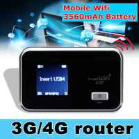 LEORY Wireless WIFI Router portable WIFI 3g-2100/1700 4g-1700MHz Battery 3560mAh 4G LTE Cat4 Mobile Hotspot