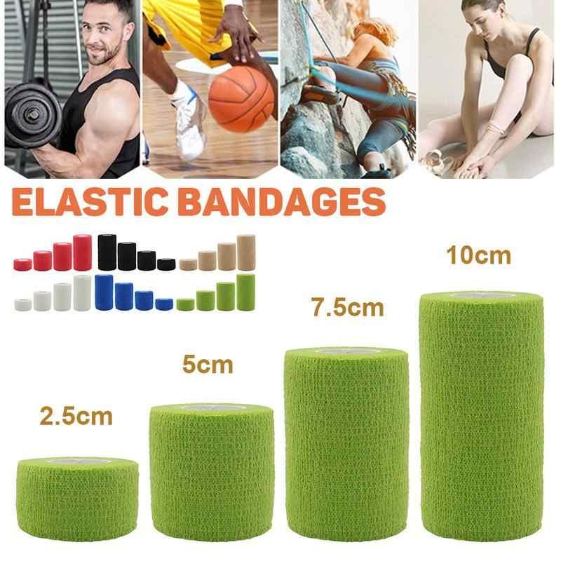 Bunte Sport Selbstklebende Elastische Bandage Knie Unterstützung Pads 4,5 m Wrist Ankle Nicht-woven Sport Kinesiologie Band Atmungs