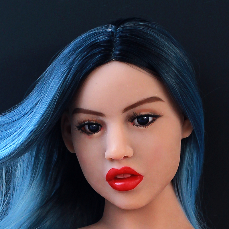 tpe Oral Sex Doll Head Fits 140cm to 176cm Life Size Lifelike Real Doll with Customize Wig and Eyes M16 Screw Thread in Sex Dolls from Beauty Health