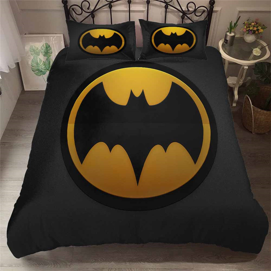 HELENGILI 3D Bedding Set Batman Print Duvet Cover Set Bedcloth With Pillowcase Bed Set Home Textiles #TB-12