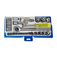 Набор ручного инструмента СОЮЗ 1045-20-S36C (36 предметов, головки торцевые, биты, храповик, пенал)