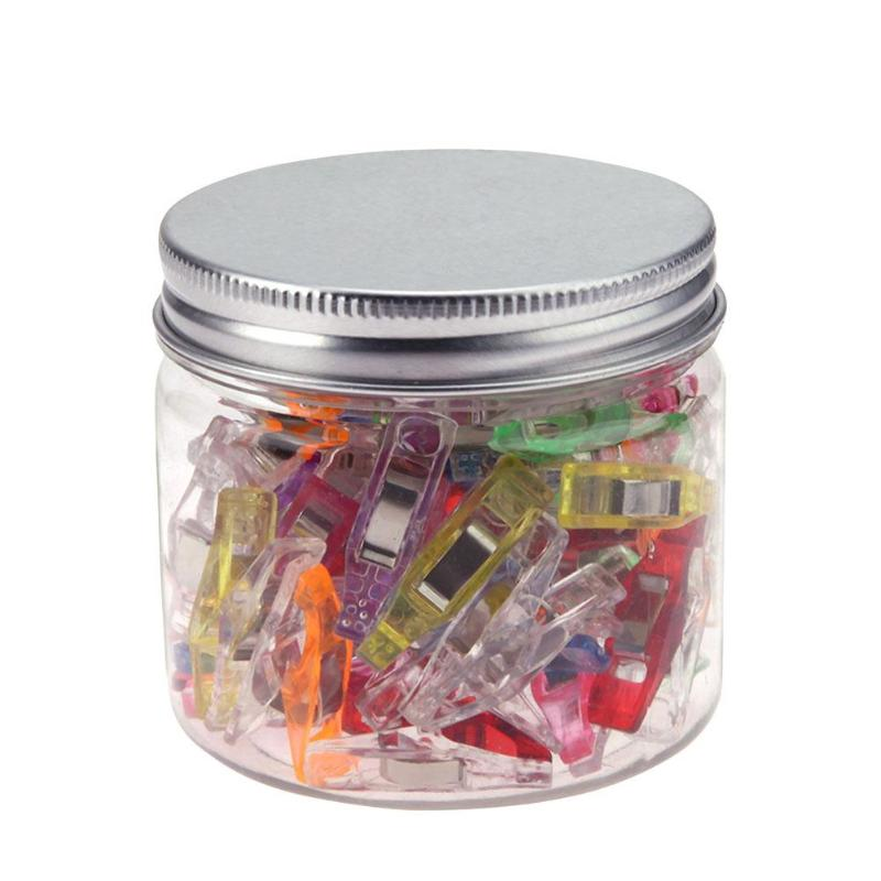 50Pcs/Jar Multicolor Plastic Clips For DIY Crafts Patchwork Sewing Photo Paper Clamps Holder Organizer  Clip Office Supply