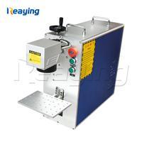 Cheap price mini DIY fiber laser metal nonmetal marking machine 30W Raycus generator engraving machine