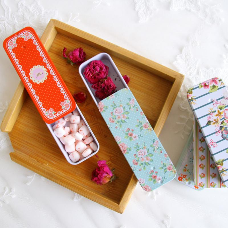 Boxs Container Storage-Box Pill-Cases Slide-Cover Xylitol Tin Rectangular Mini Wedding-Jewelry