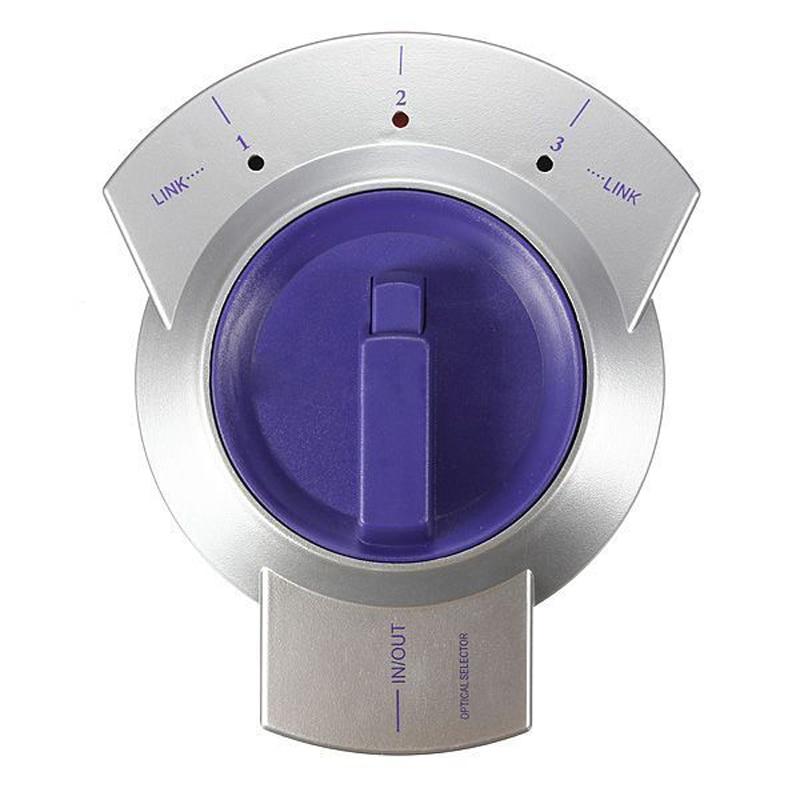 Kvm-switches Trendmarkierung 3-weg Digital Audio Optical Fiber Kabel Toslink Wahlschalter Splitter Hdtv Silber Lila Computer & Büro
