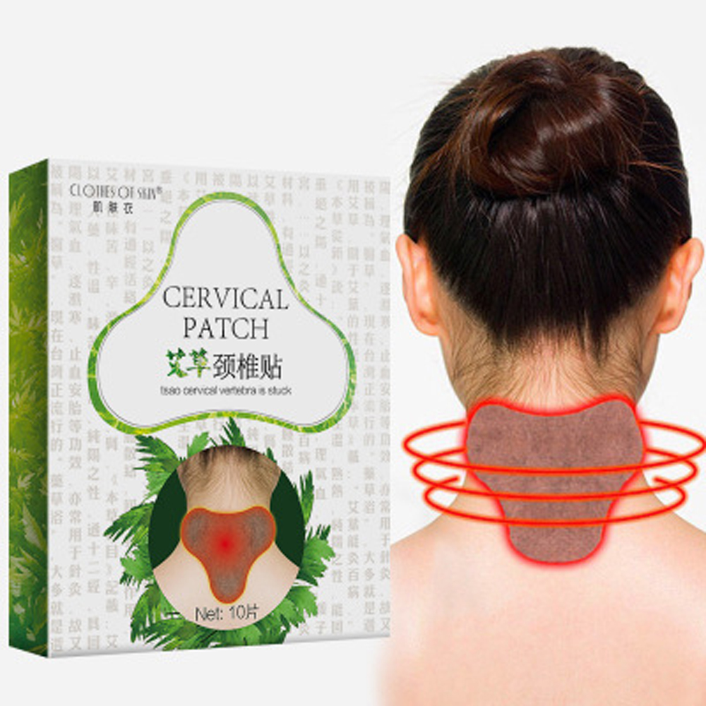10pc Health Care Cervical Patch Pain Plaster Relaxing Natural Wormwood Rheumatic Arthritis