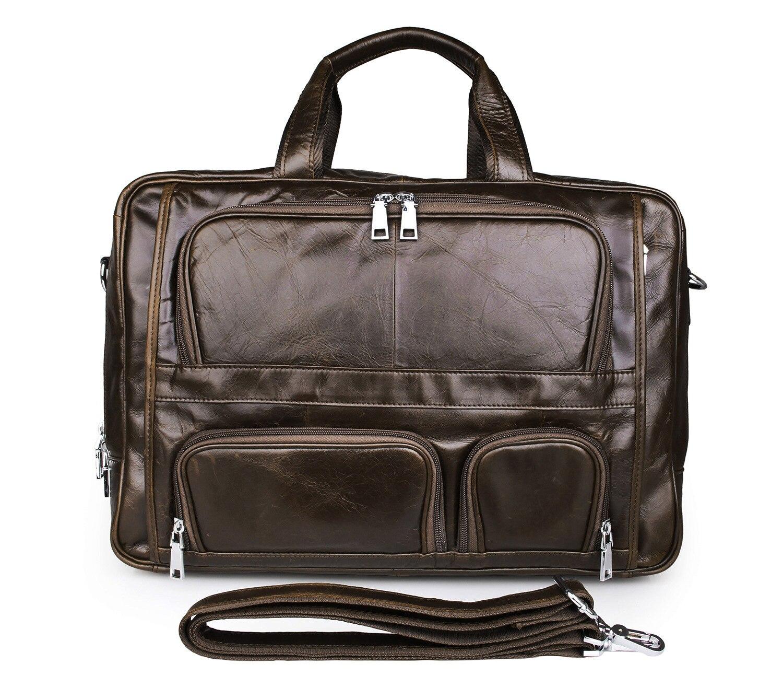 Европейская и американская деловая кожаная мужская сумка 730 40 большая сумка 17 дюймов компьютерный портфель для ноутбука чехол для документ...