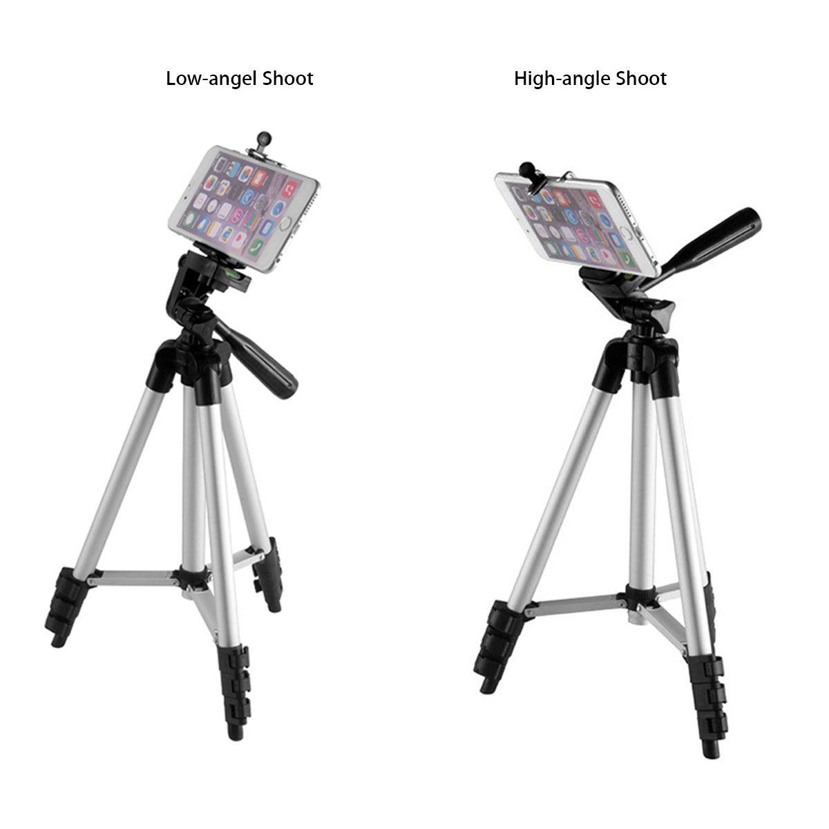 Extendable 36-100cm Universal Adjustable Tripod Stand Mount Holder Clip Camera Phone Holder Bracket For Cell Phone Camera 4