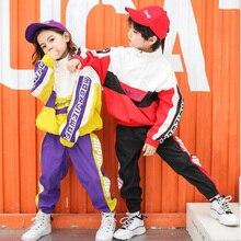 Los niños Hip Hop de impresión de ropa niñas niños sudadera pantalones de  baile de Jazz trajes de baile de salón de baile ropa t. 6718782e14c