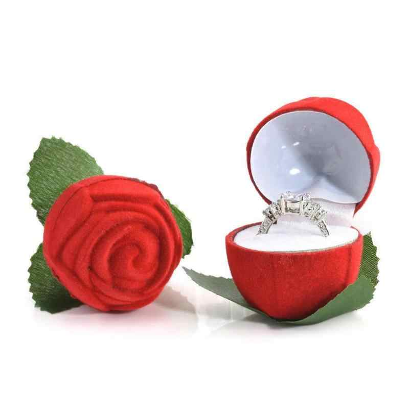 Hoa Hồng Lãng Mạn Hoa Thông Tắc Đường Ống Hộp Nhẫn Giá Đỡ Cưới Đề Xuất Đính Hôn Ngày Valentine Tặng Quy Cách Đóng Gói Hộp Đồ Trang Sức Hộp Quà Tặng