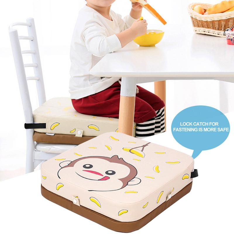 Adjustable Baby Dining Chair Heightening Cushion For Kids PU Anti-Skid Waterproof Chair Cushion With Adjustable Height Furniture