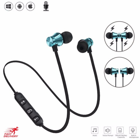 brand new SOONHUA Wireless Magnetic Headphone V4.2 Bluetooth Headset Neckband Handsfree Sport Stereo Earphones For iPhone Xiaomi Pakistan