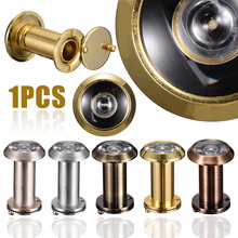 200 Degree  Door Viewer Wide Angle Viewing Security Viewers Hole Adjustable Hidden Peephole Glass Lens for Home Tools