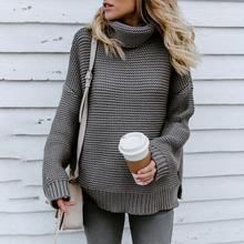 4d11bc0a0b Women Jumper Turtleneck Sweater Female Jumper Warm Sweater thick Winter  Cable Knitted Oversized Sweater Coarse Pullover