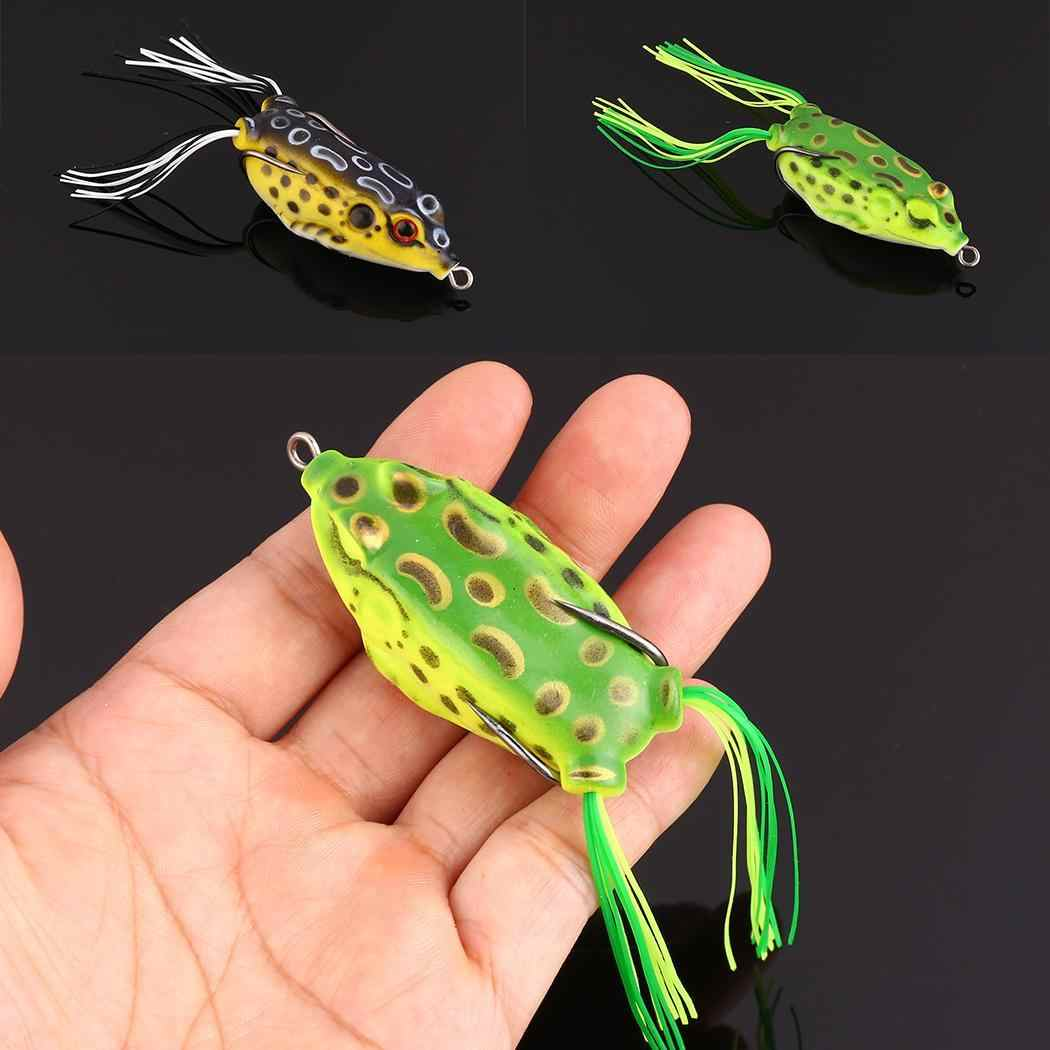 1Pcs Soft Bait Fishing Lures Frog Lure Japan 55mm 8.9g Treble Hook Topwater Ray Frog 5.5CM 13G Artificial Wobblers