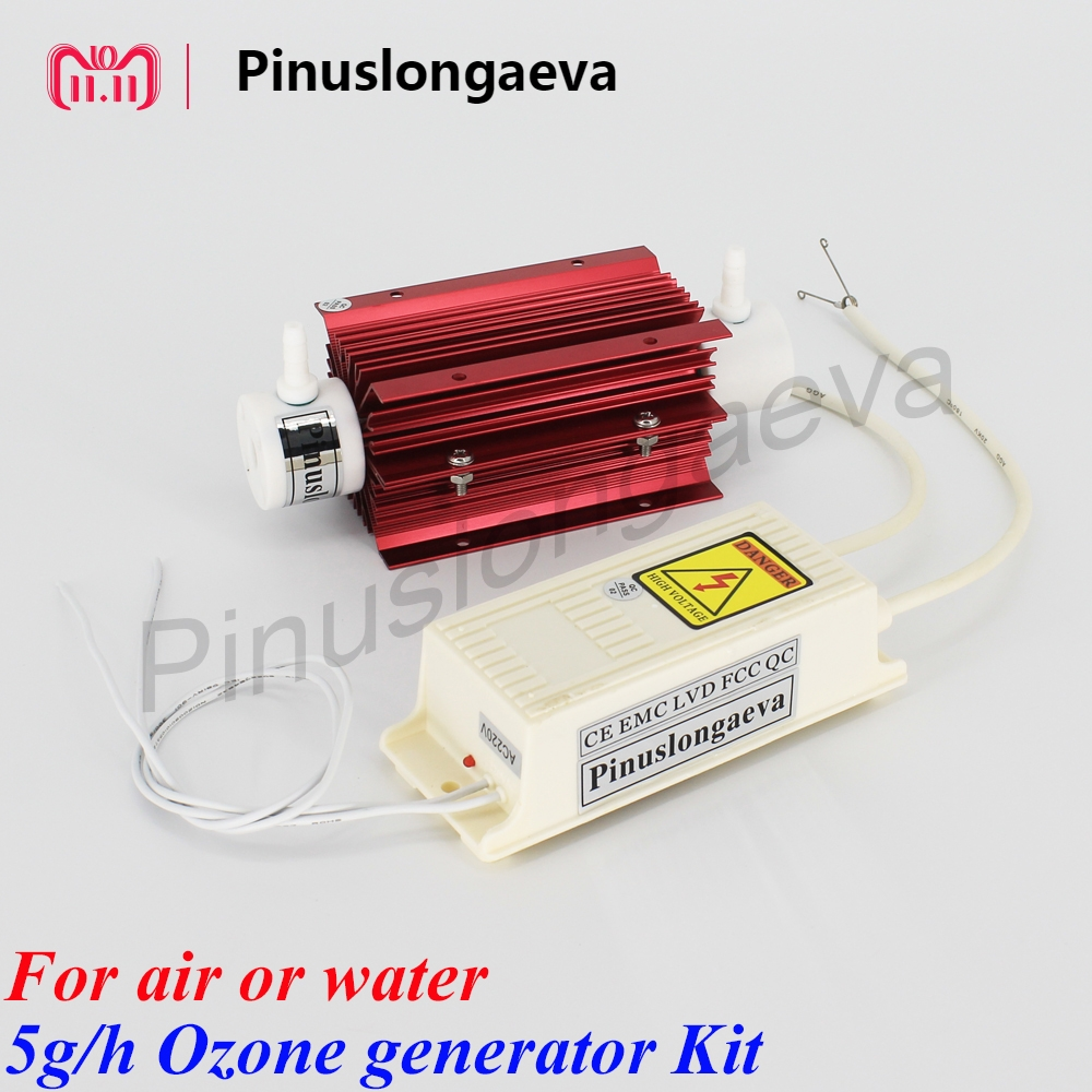 Pinuslongaeva 5g/h 5grams Quartz tube type ozone generator Kit new technology spa water treatment ozonator home use air purifier to russia pinuslongaeva 12g h quartz tube type ozone generator kit water ozonator for water plant portable purifier ozonator