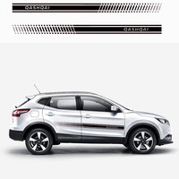 2pcs Stylish car body sticker vinyl body decal Side Sticker Stripes Stickers For Nissan Qashqai Car Styling