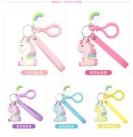 40 set/lot Unicorn Figure Toys Rainbow Unicorn High Quality PVC Keychain Pendant Accessories Toys Free Shipping