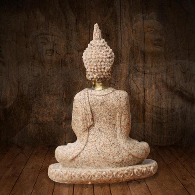 Sandstone Golden Buddha Statue 5