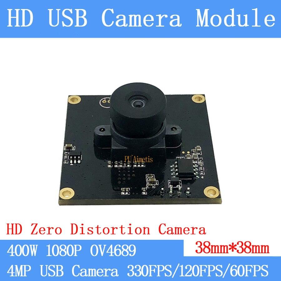 Balayage vidéo sans distorsion de codes à molette   Webcam OTG Full HD 1080P, Linux UVC MJPEG, Module caméra USB 330FPS/120FPS/60FPS