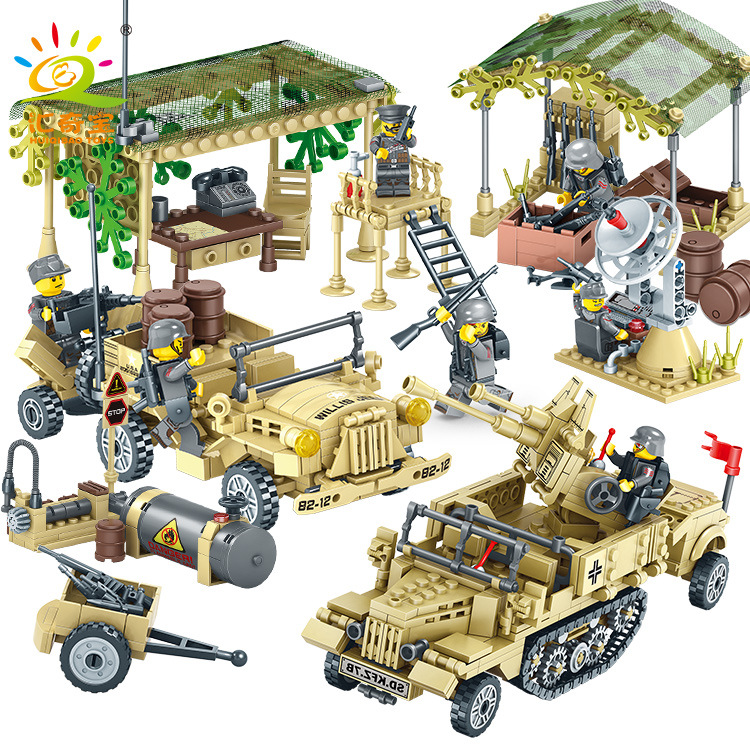 WW2 Military Camp Trucks Jeeps car Building Blocks Compatible legoing Army Soldiers Weapon armored car Bricks Toys for ChildrenWW2 Military Camp Trucks Jeeps car Building Blocks Compatible legoing Army Soldiers Weapon armored car Bricks Toys for Children