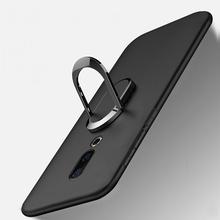 "Cover for Meizu 16 16th Case luxury M882Q 6.0"" Soft Black Silicone Magnetic Car Holder Ring Coque for Meizu 16TH Meizu 16 Funda"