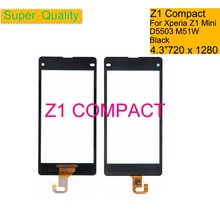 10Pcs/lot For Sony Xperia Z1 Compact Z1 Mini D5503 M51W Touch Screen Digitizer Front Outer Glass Touch Panel Sensor Lens NO LCD 5pcs lot tsumv59xu z1 tsumv59xu