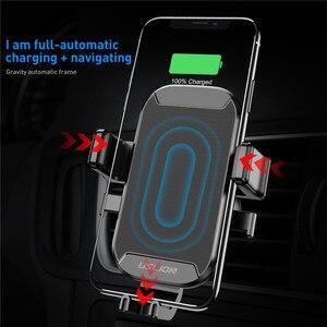 Image 2 - USLION רכב הר צ י אלחוטי מטען עבור iPhone XS מקסימום X XR 8 מהיר טעינה אלחוטי לרכב עבור סמסונג הערה 9 S9 S8