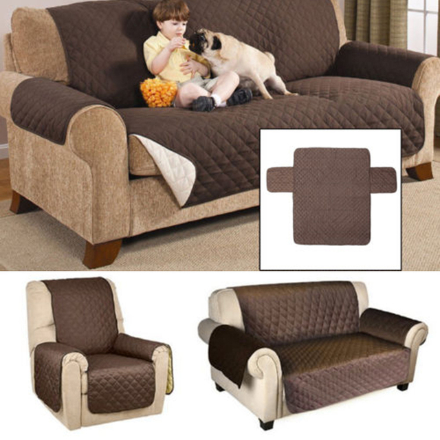 US $10.76 22% OFF|Double Side Sofa Cushion for 1 3 Person Removable Couch  Recliner Seat Sofa Slipcover Waterproof House Furniture Protector Cover-in  ...
