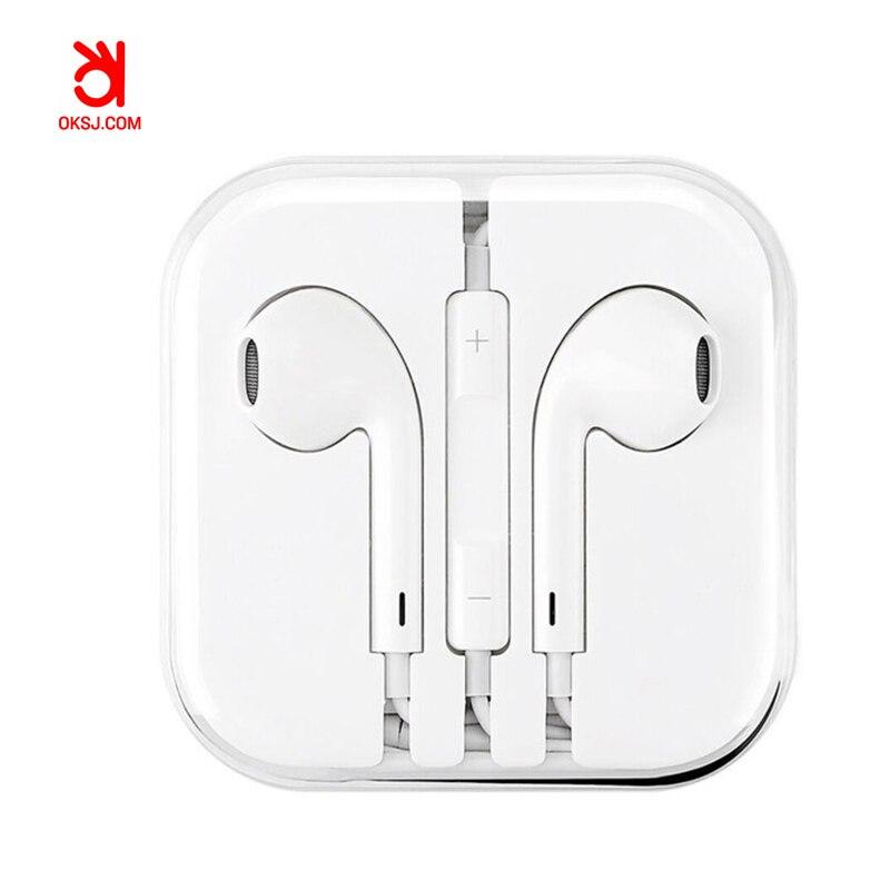 OKSJ S1 סטריאו אוזניות אוזניות עבור iPhone 6 6 s עם מיקרופון auricuares אוזן ניצני עבור xiaomi בס earbud אוזניות